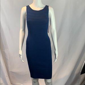 Navy Stretch Knit Dress